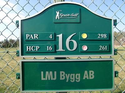 Tyresö golf sponsor hål 16
