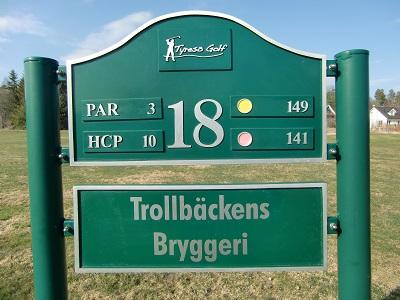 Tyresö golf sponsor hål 18