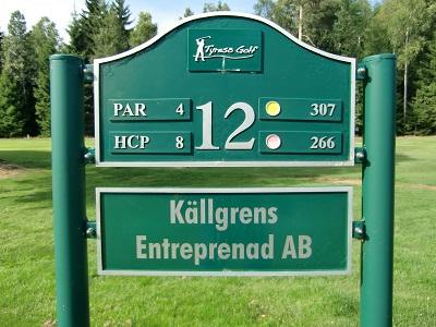 Tyresö Golf sponsor hål 12