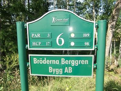 Tyresö Golf sponsor hål 6