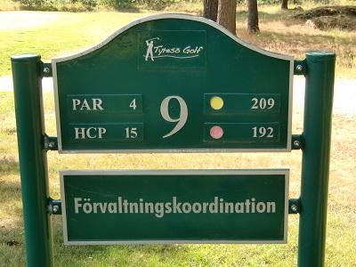 Tyresö Golf sponsor hål 9